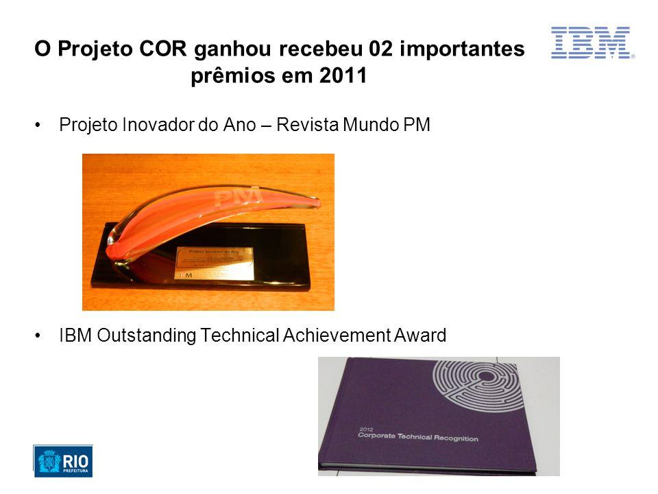 O Projeto COR ganhou recebeu 02 importantes prêmios em 2011