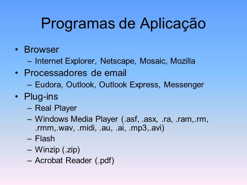 Programas de Aplicação