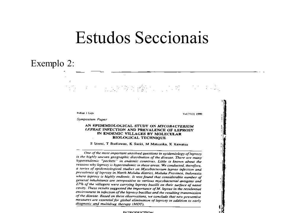 Estudos Seccionais Exemplo 2: