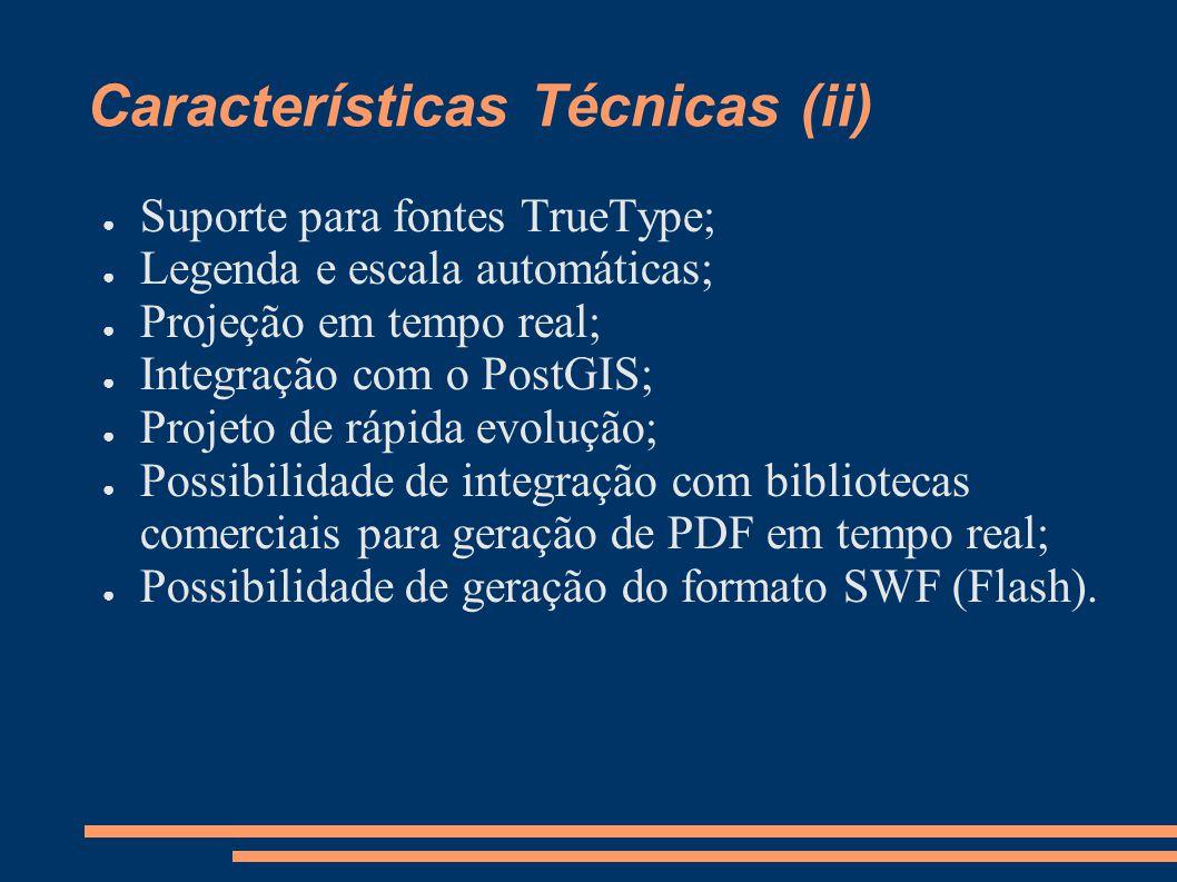 Características Técnicas (ii)