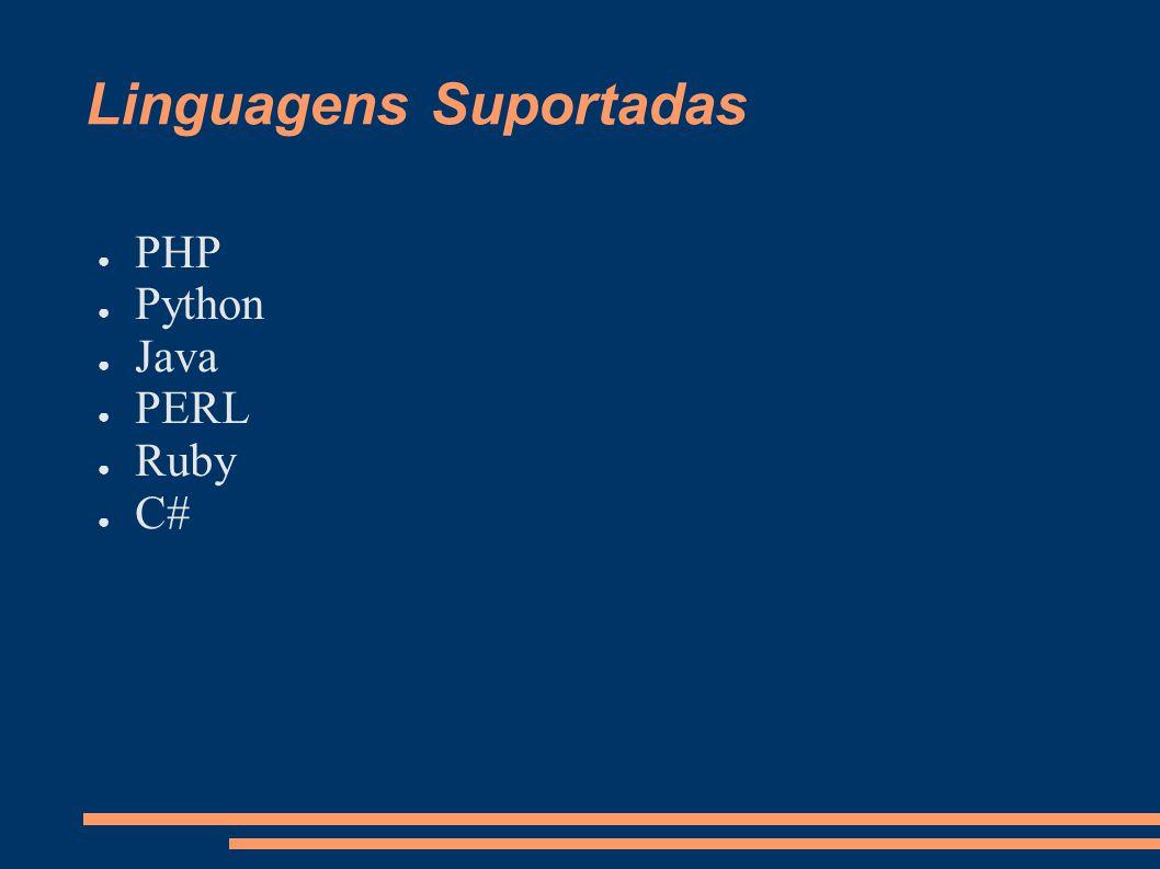 Linguagens Suportadas