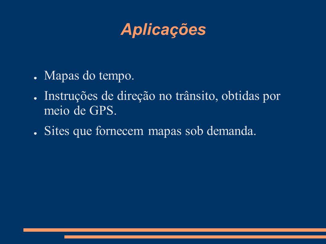 Aplicações Mapas do tempo.