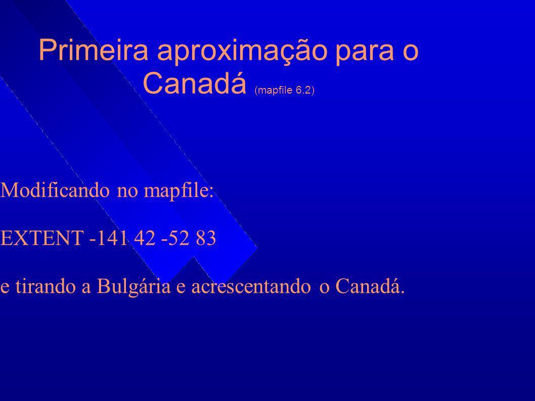 Primeira aproximação para o Canadá (mapfile 6.2)