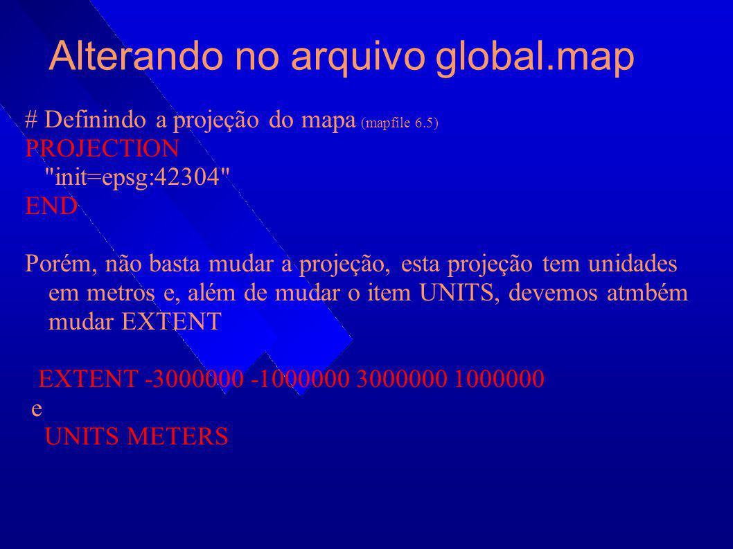 Alterando no arquivo global.map