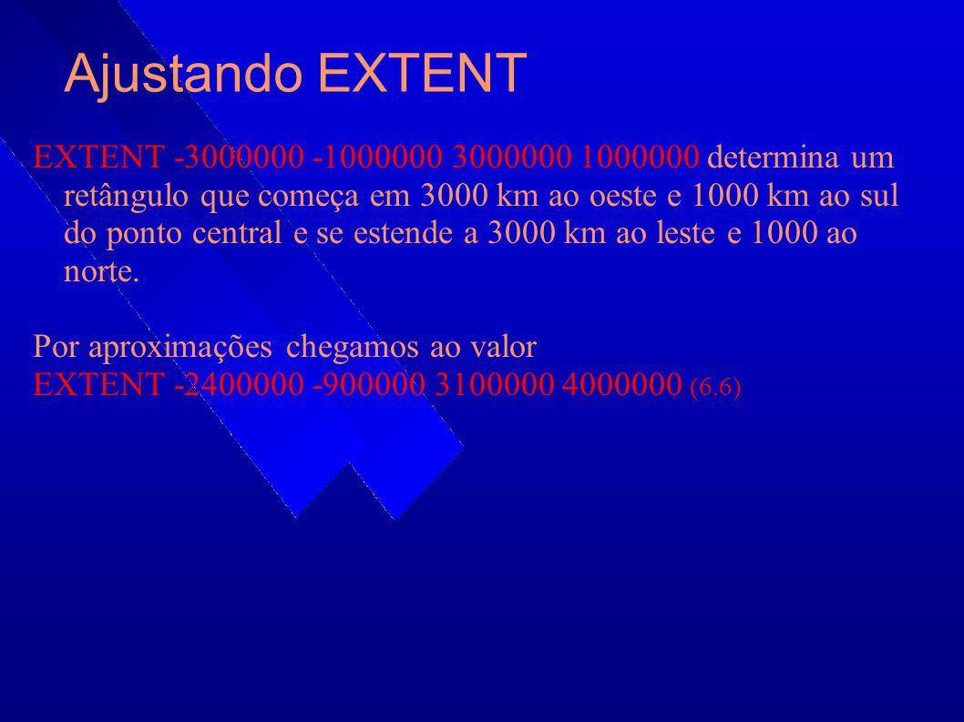 Ajustando EXTENT