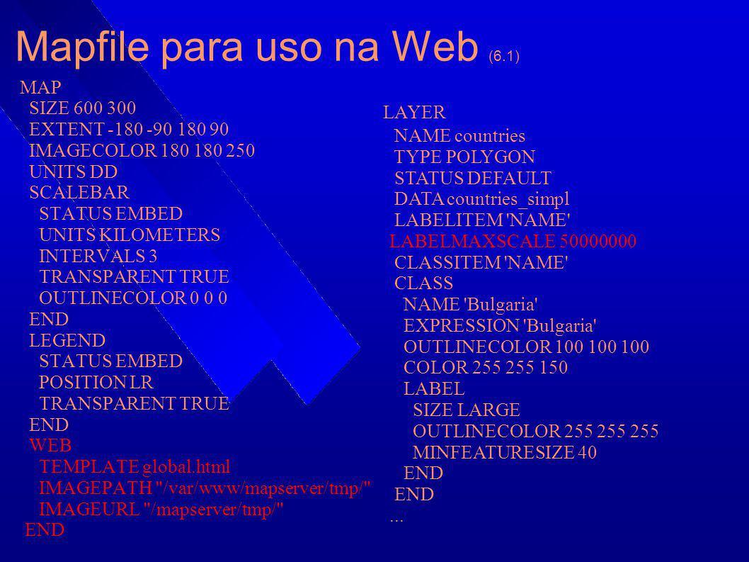 Mapfile para uso na Web (6.1)