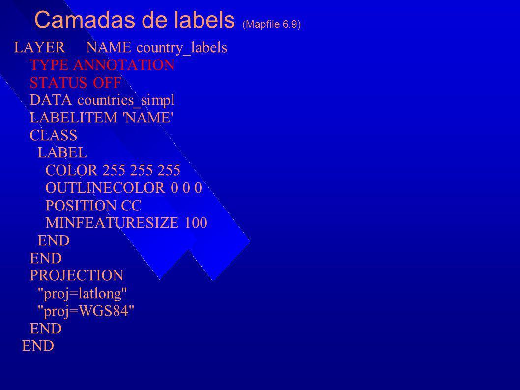 Camadas de labels (Mapfile 6.9)
