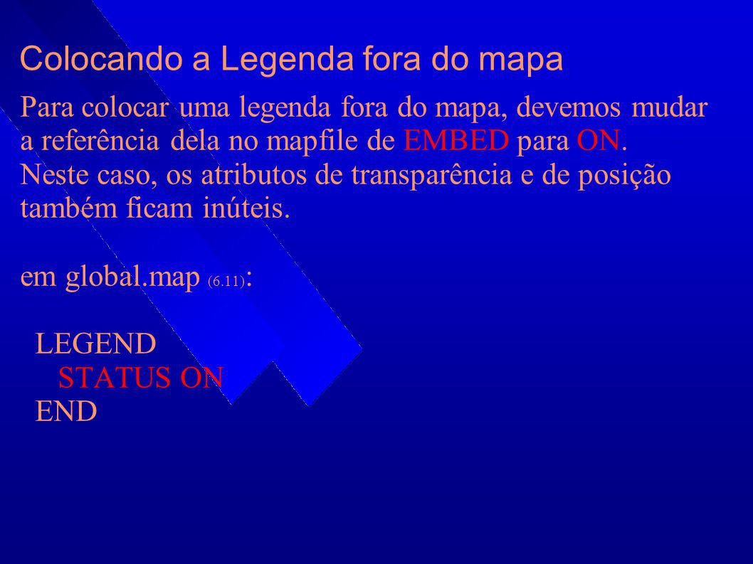 Colocando a Legenda fora do mapa