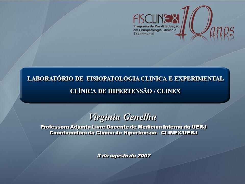 LABORATÓRIO DE FISIOPATOLOGIA CLINICA E EXPERIMENTAL CLÍNICA DE HIPERTENSÃO / CLINEX