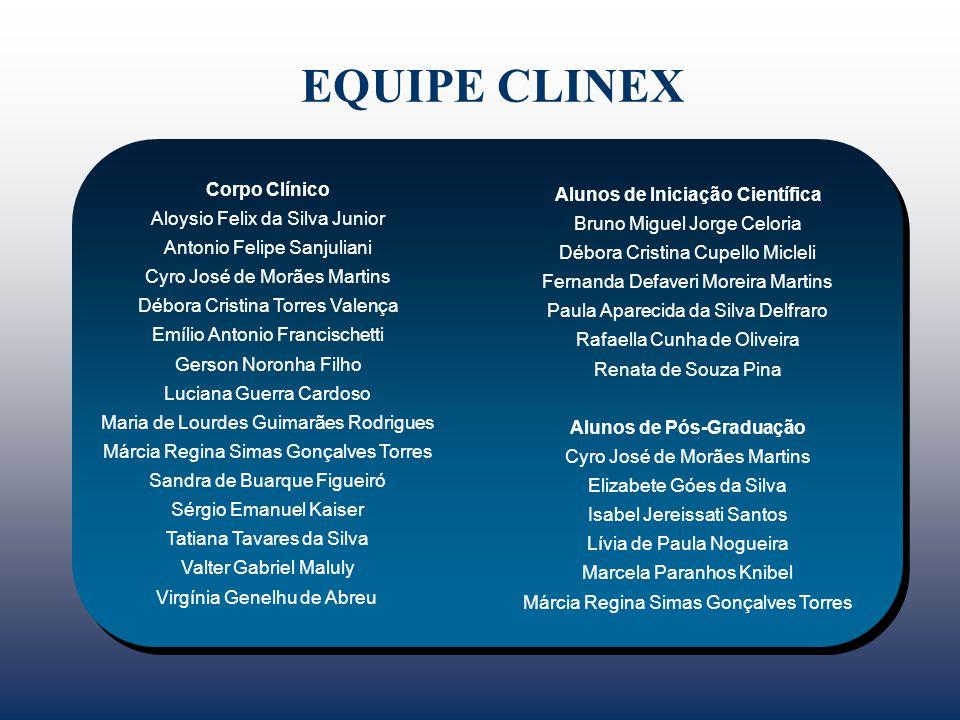 EQUIPE CLINEX Corpo Clínico Alunos de Iniciação Científica