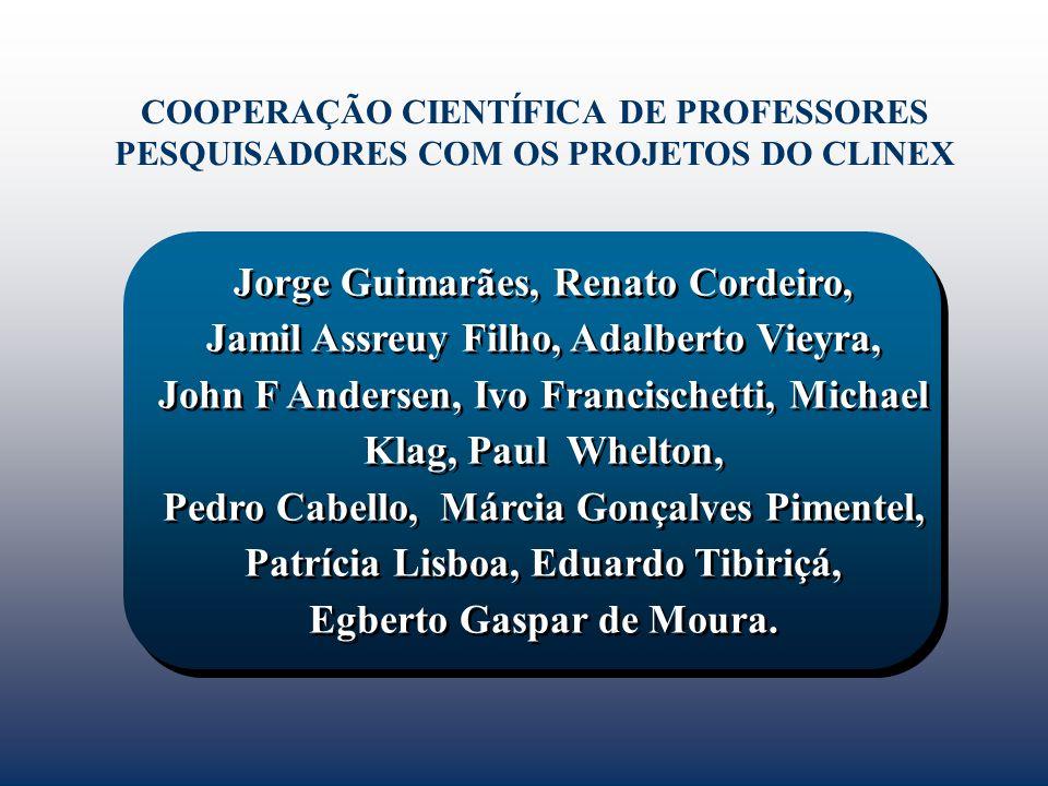 COOPERAÇÃO CIENTÍFICA DE PROFESSORES PESQUISADORES COM OS PROJETOS DO CLINEX