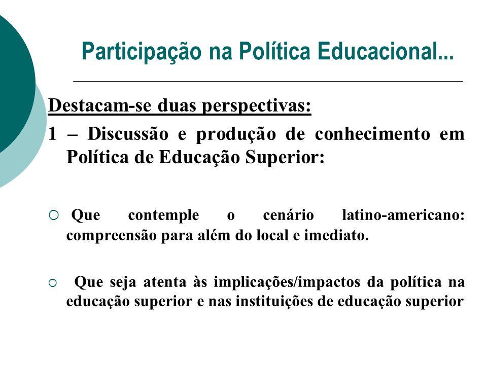 Participação na Política Educacional...