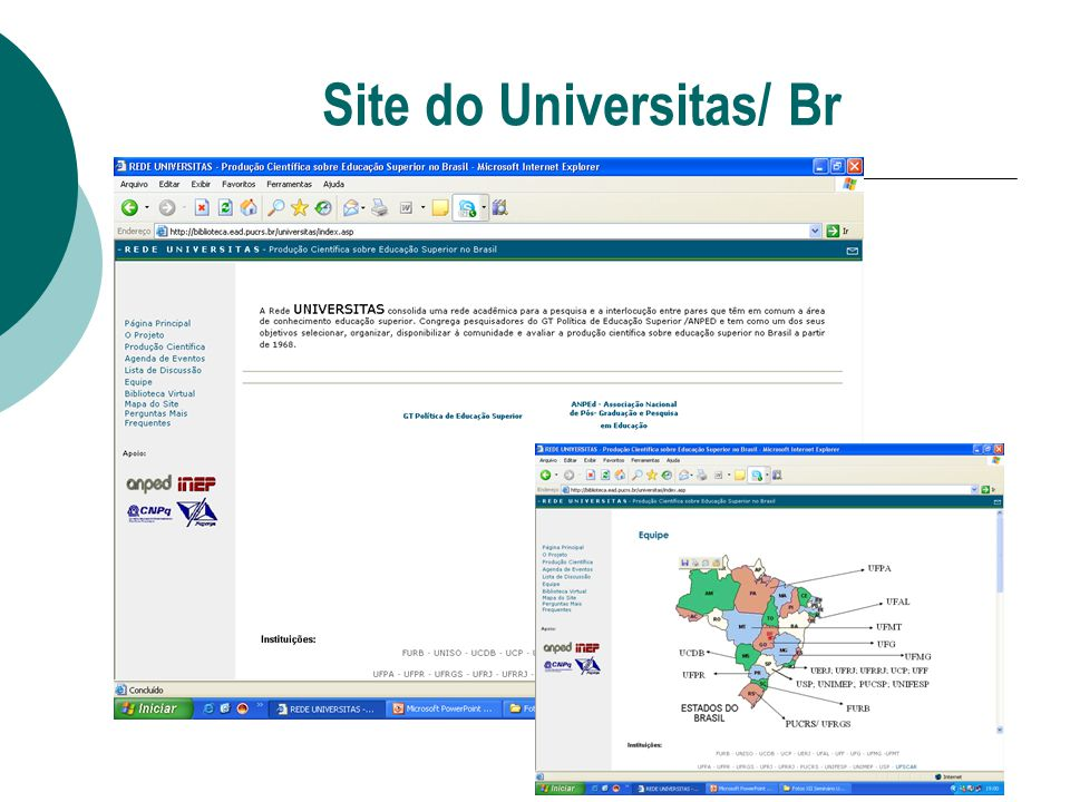 Site do Universitas/ Br