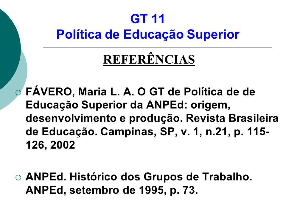 GT 11 Política de Educação Superior