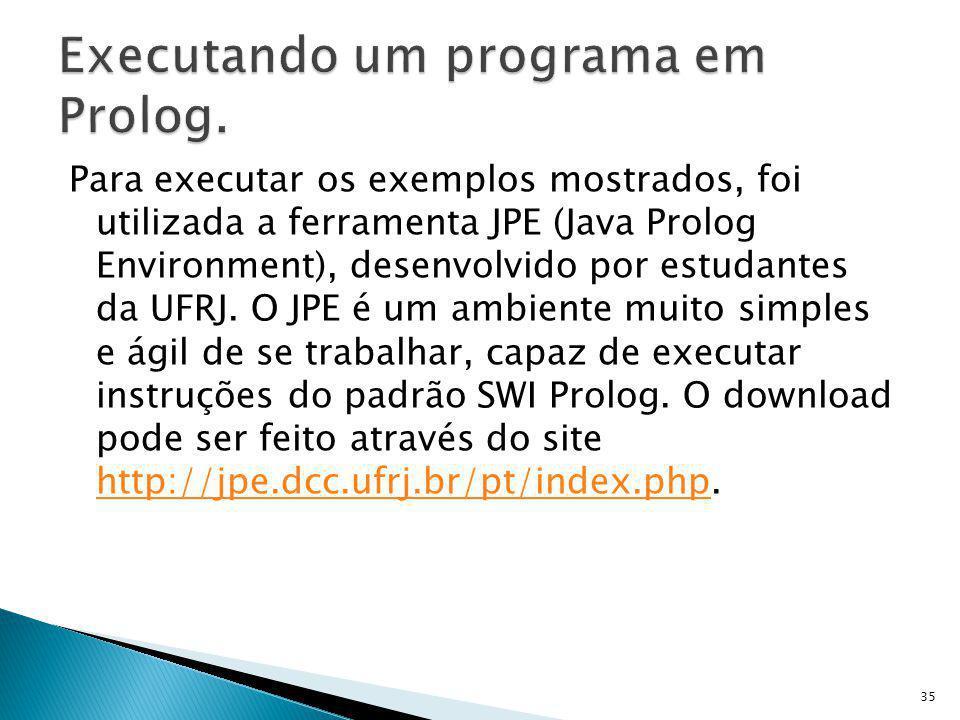Executando um programa em Prolog.