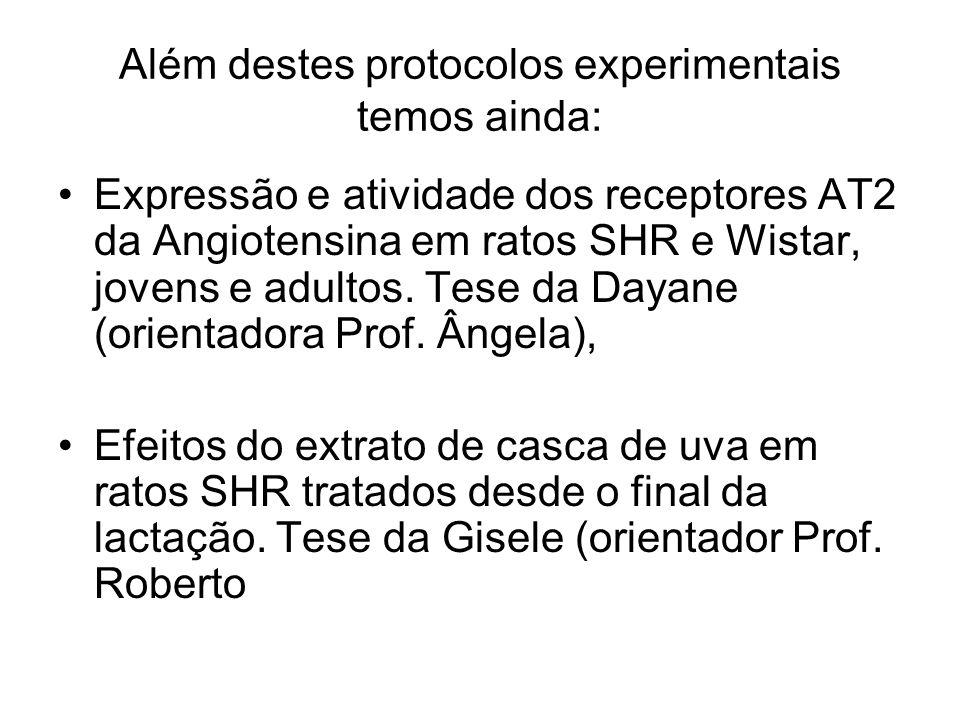 Além destes protocolos experimentais temos ainda: