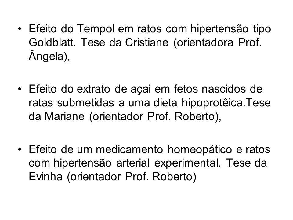 Efeito do Tempol em ratos com hipertensão tipo Goldblatt