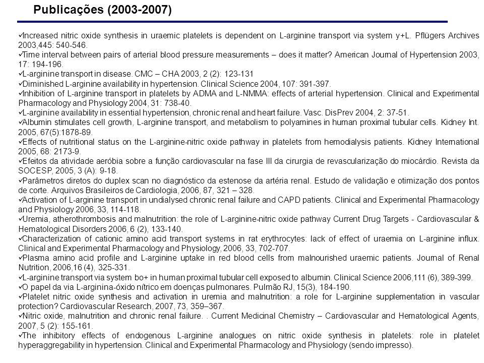 Publicações (2003-2007)