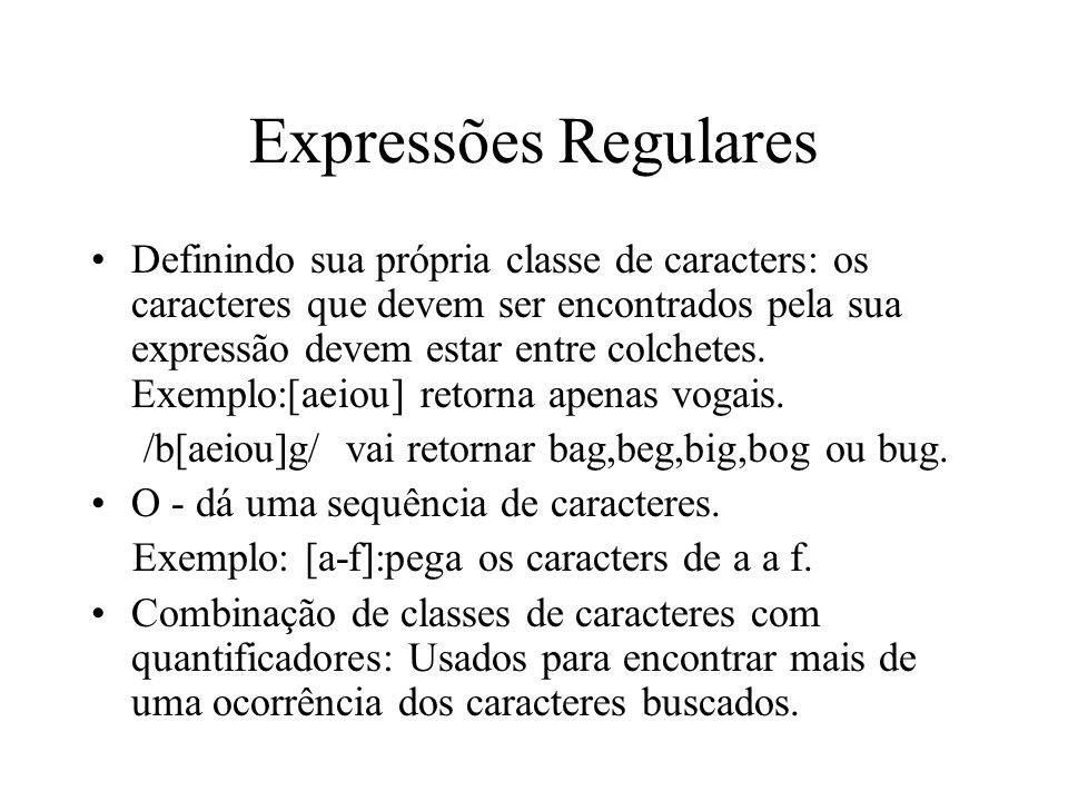 Expressões Regulares