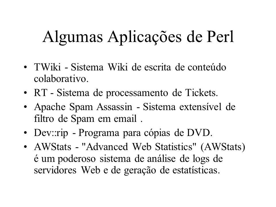 Algumas Aplicações de Perl