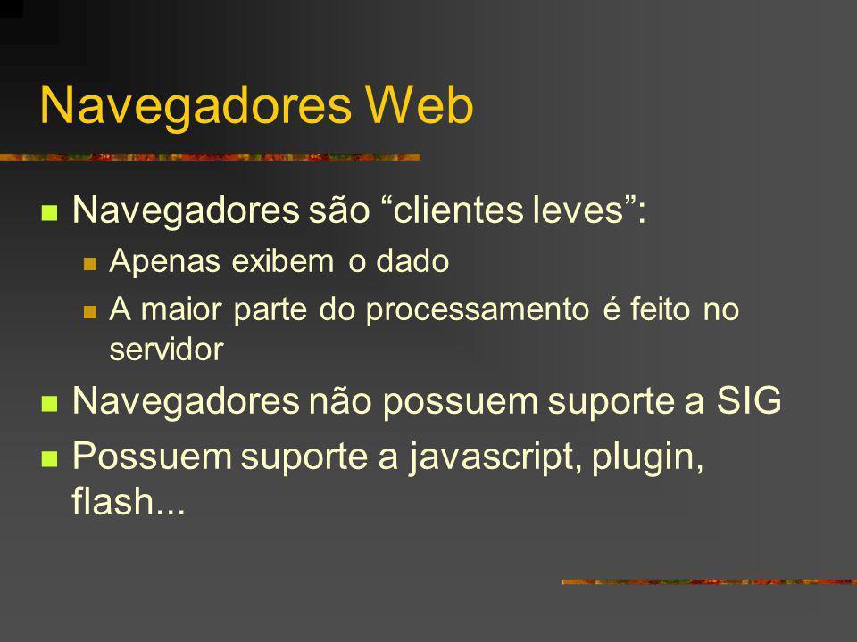 Navegadores Web Navegadores são clientes leves :