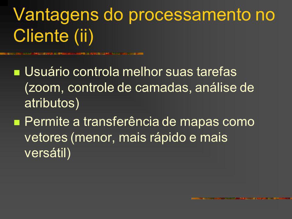 Vantagens do processamento no Cliente (ii)