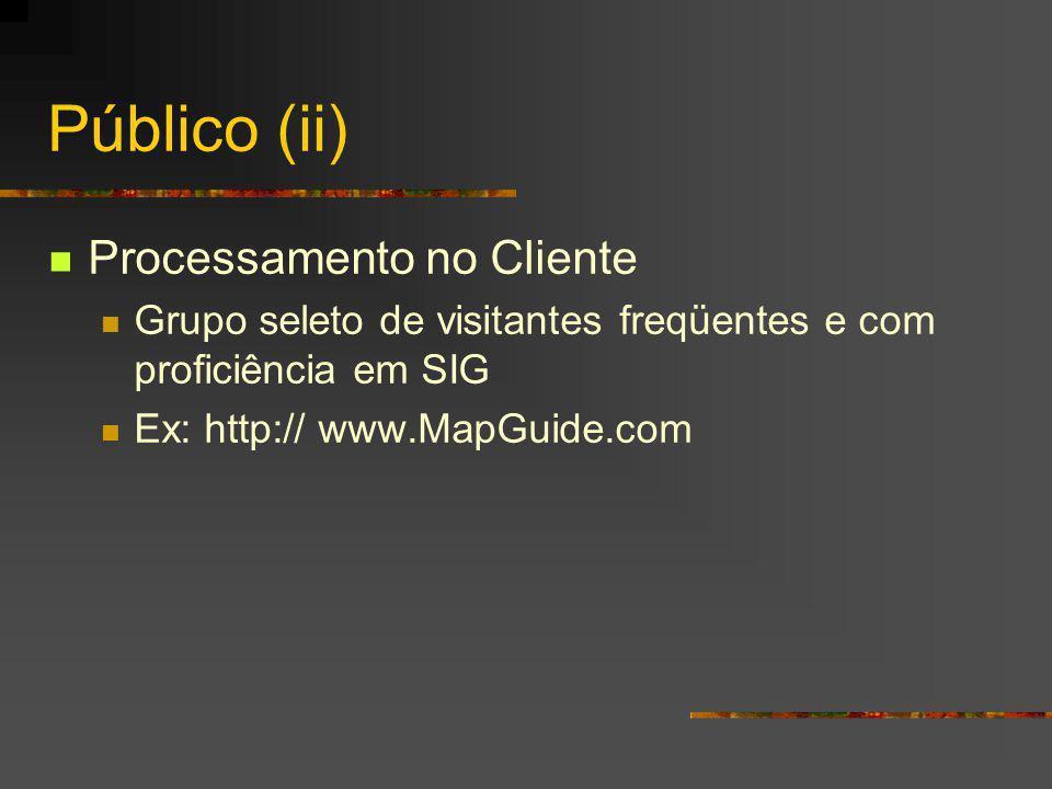 Público (ii) Processamento no Cliente