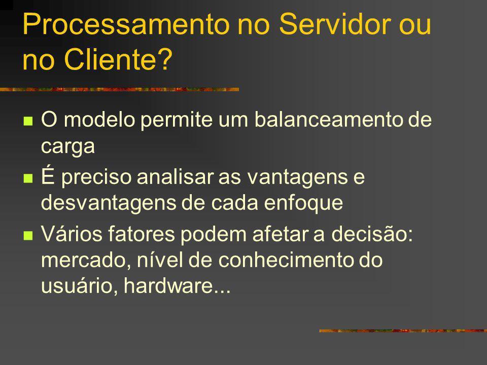 Processamento no Servidor ou no Cliente