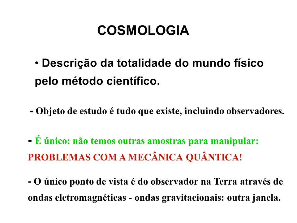 COSMOLOGIA Descrição da totalidade do mundo físico