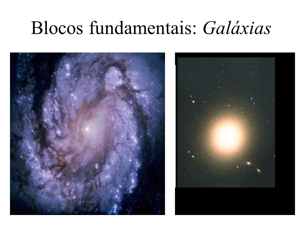 Blocos fundamentais: Galáxias