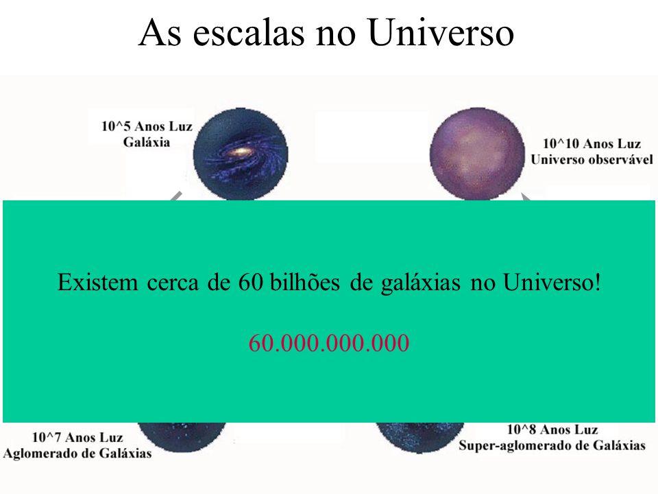 Existem cerca de 60 bilhões de galáxias no Universo!
