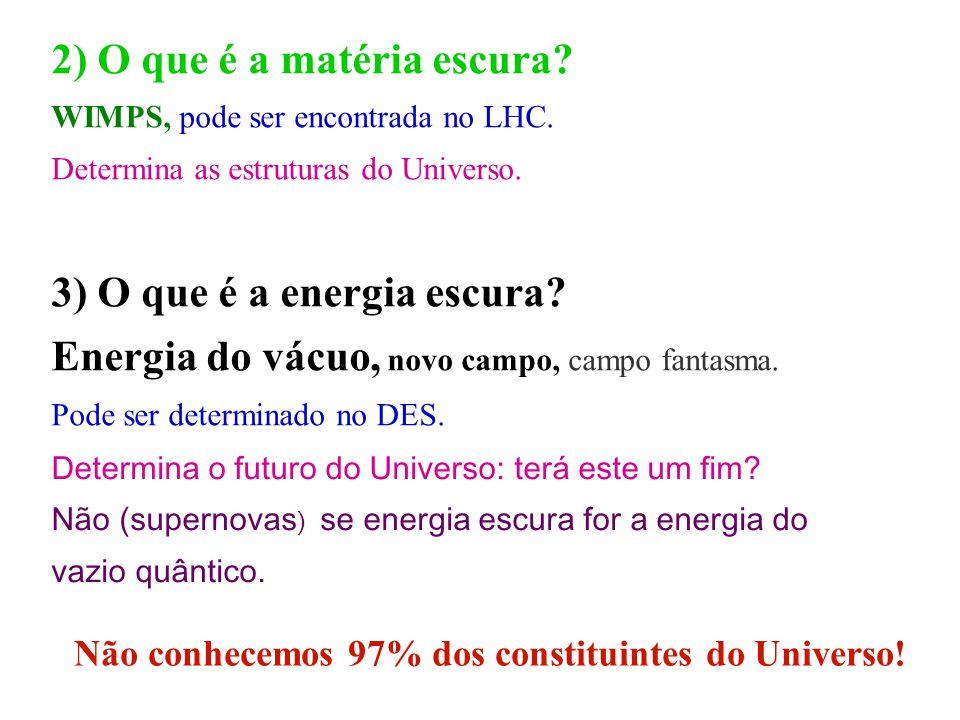 2) O que é a matéria escura