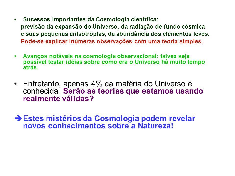 Sucessos importantes da Cosmologia científica: