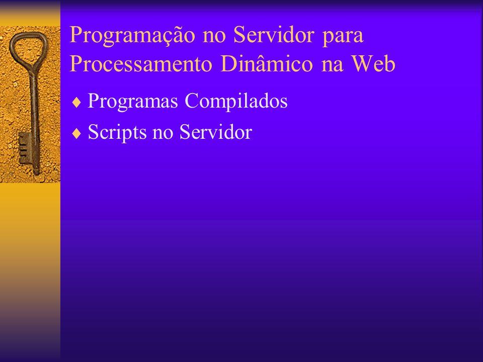 Programação no Servidor para Processamento Dinâmico na Web