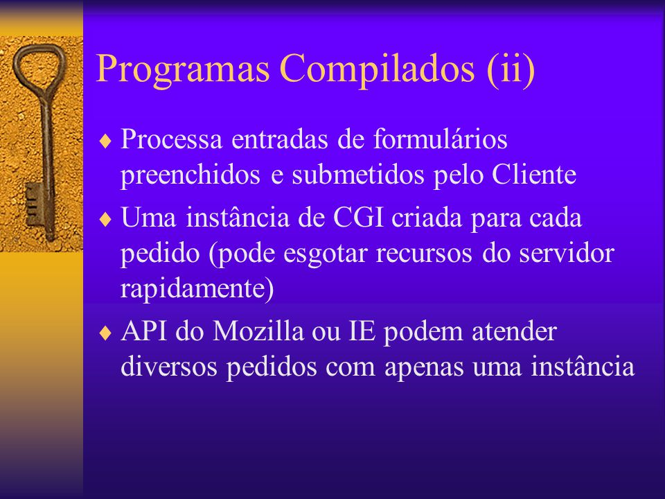 Programas Compilados (ii)