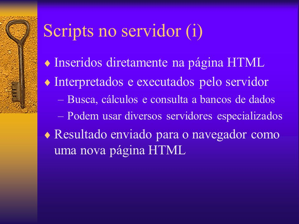 Scripts no servidor (i)