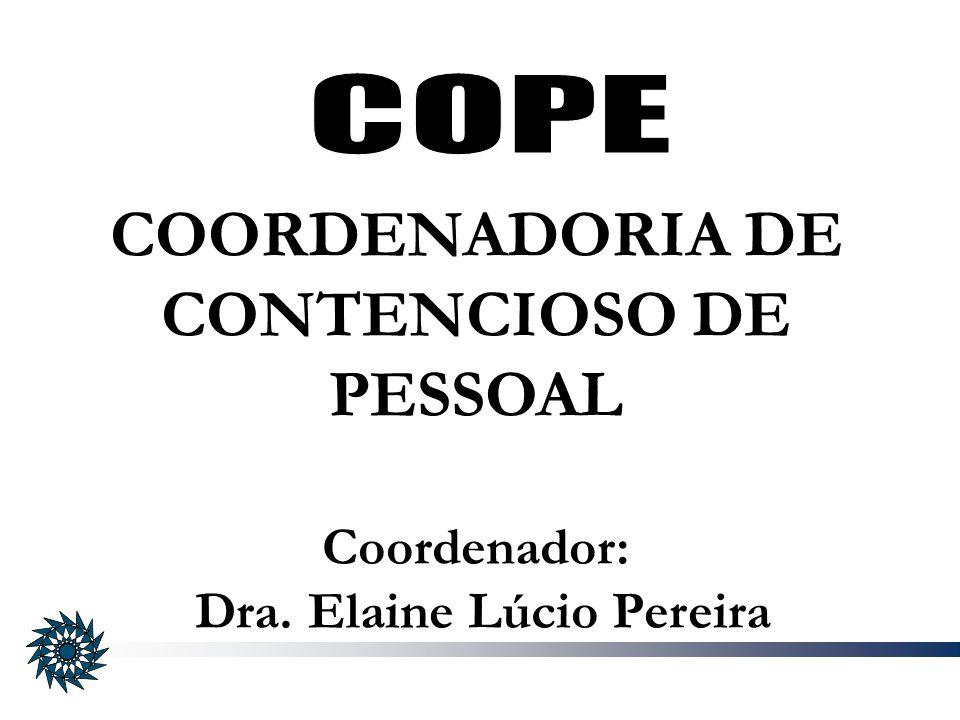 COORDENADORIA DE CONTENCIOSO DE PESSOAL