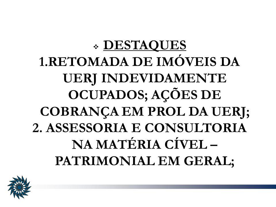 2. ASSESSORIA E CONSULTORIA NA MATÉRIA CÍVEL – PATRIMONIAL EM GERAL;