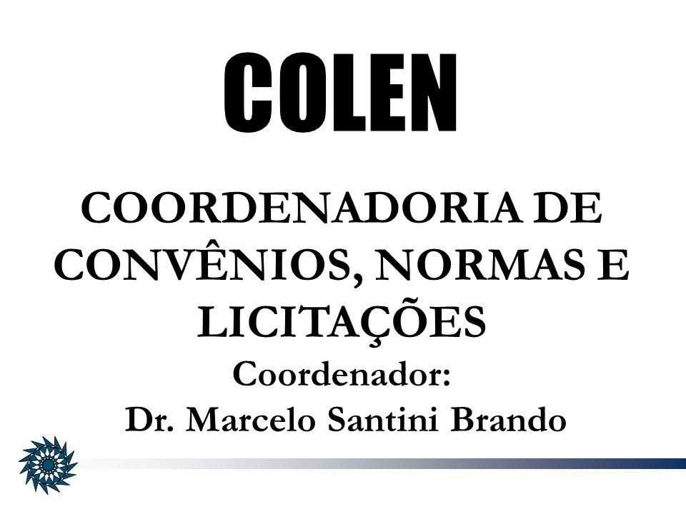 COORDENADORIA DE CONVÊNIOS, NORMAS E LICITAÇÕES
