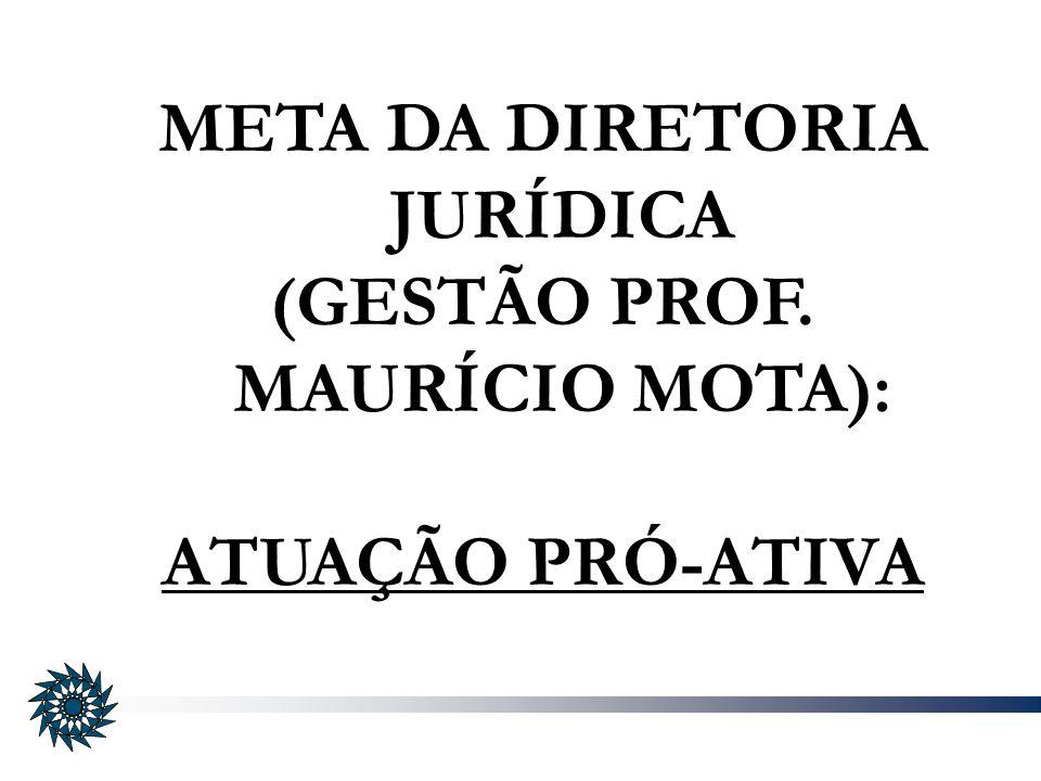 META DA DIRETORIA JURÍDICA (GESTÃO PROF. MAURÍCIO MOTA):