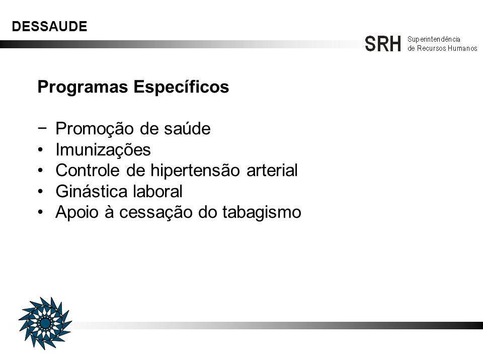 Programas Específicos − Promoção de saúde Imunizações