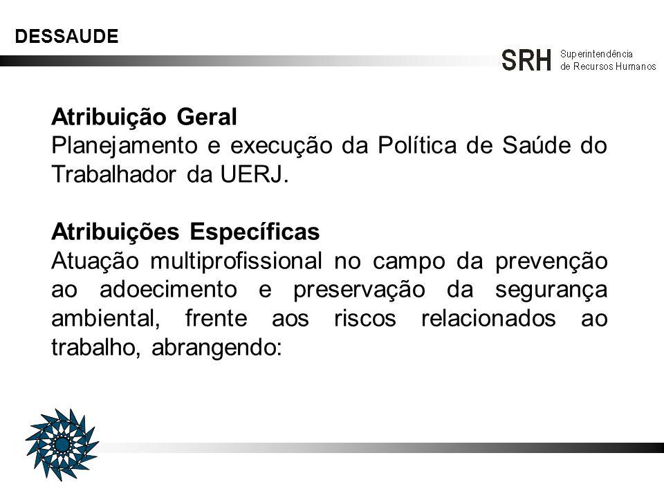 Planejamento e execução da Política de Saúde do Trabalhador da UERJ.