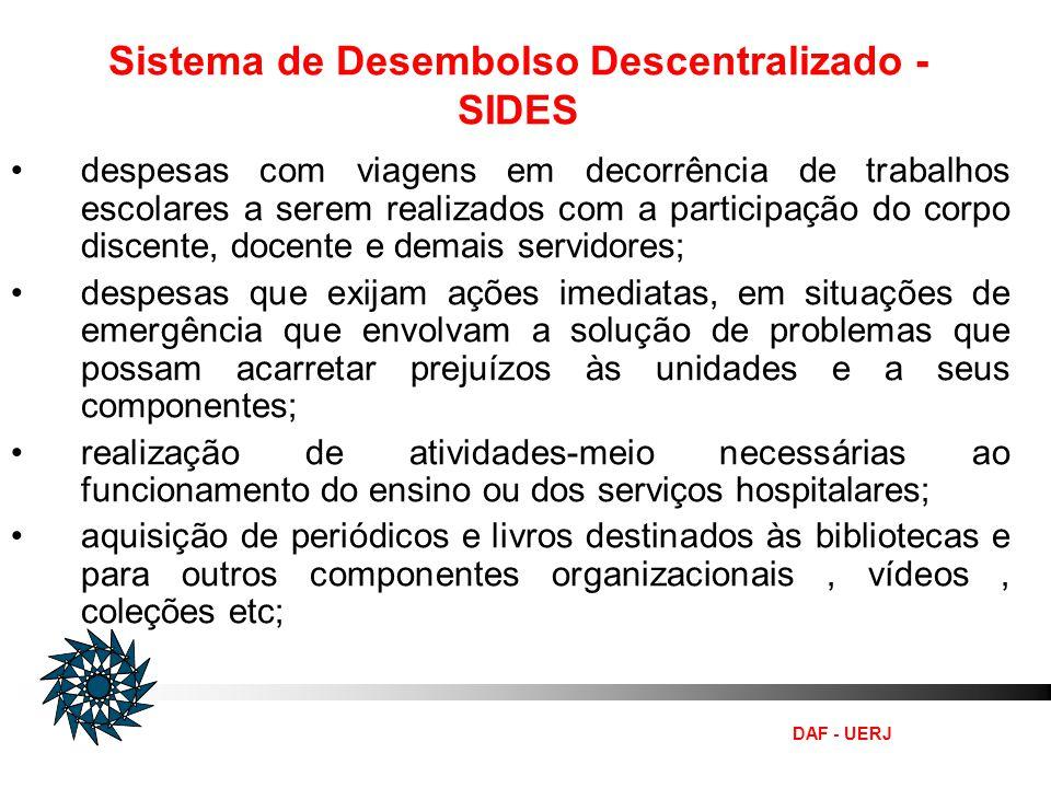 Sistema de Desembolso Descentralizado - SIDES