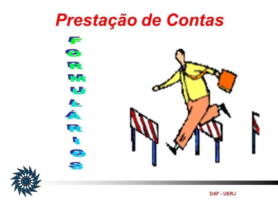 Prestação de Contas FORMULÁRIOS DAF - UERJ