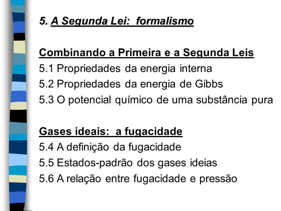 5. A Segunda Lei: formalismo