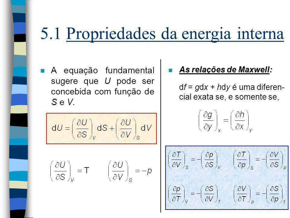 5.1 Propriedades da energia interna
