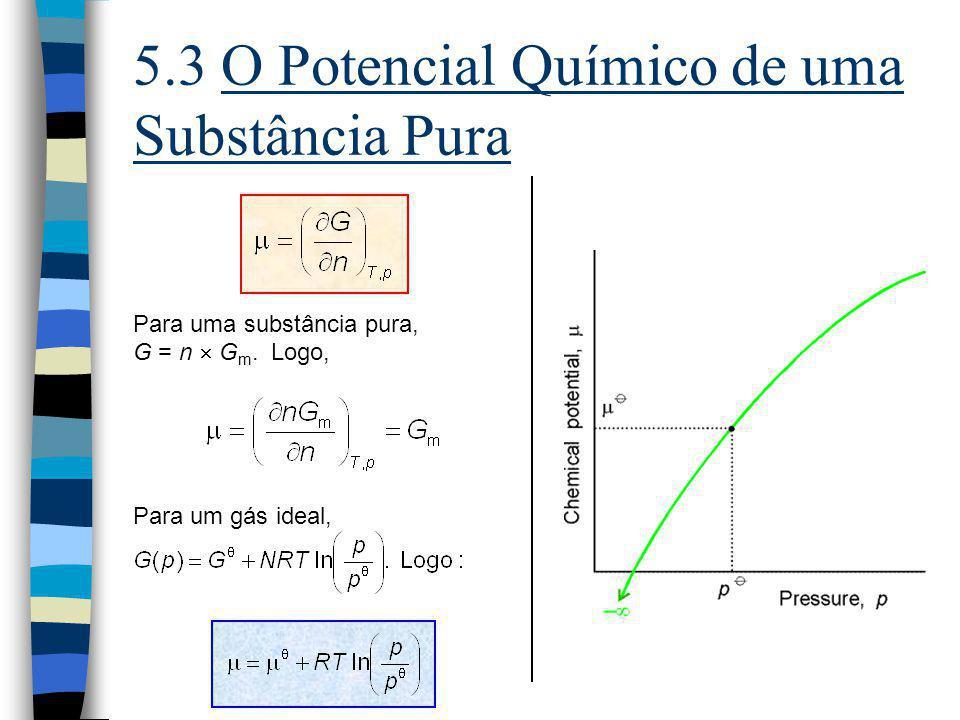 5.3 O Potencial Químico de uma Substância Pura