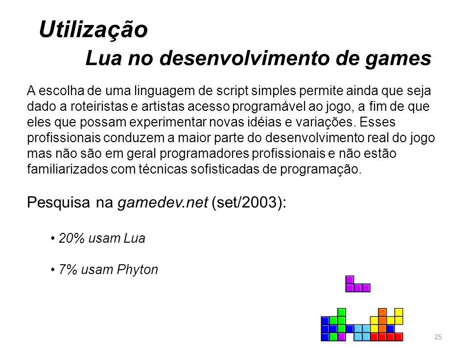 Lua no desenvolvimento de games
