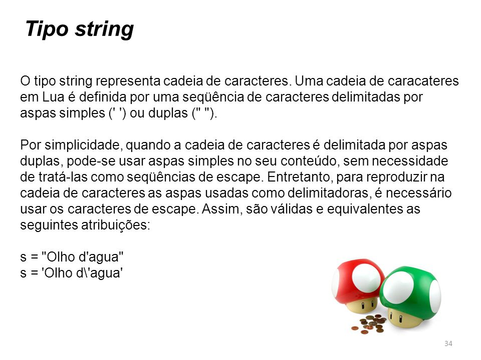 Tipo string