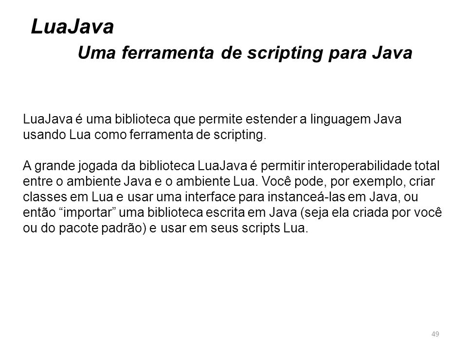 Uma ferramenta de scripting para Java